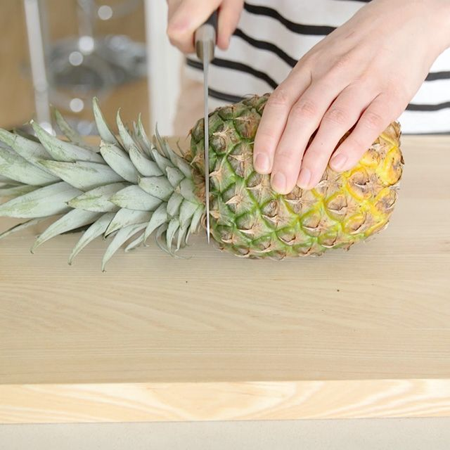 How to prepare a pineapple - step 1