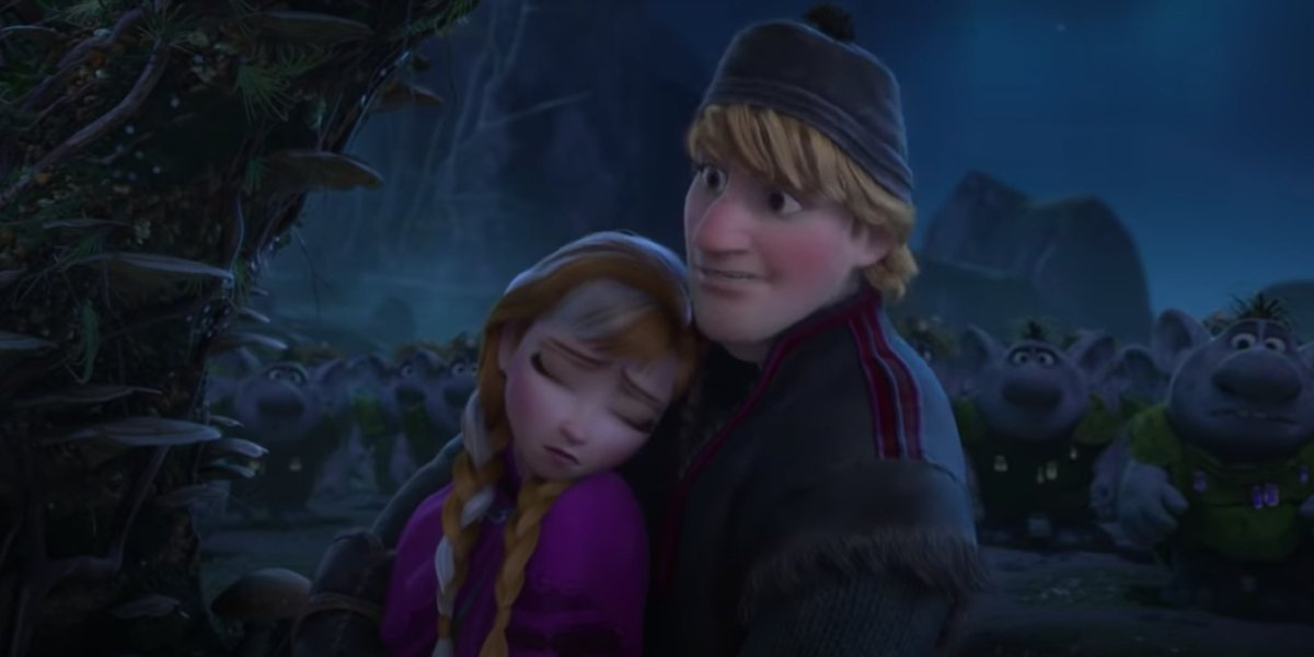 Anna and Kristoff in Frozen
