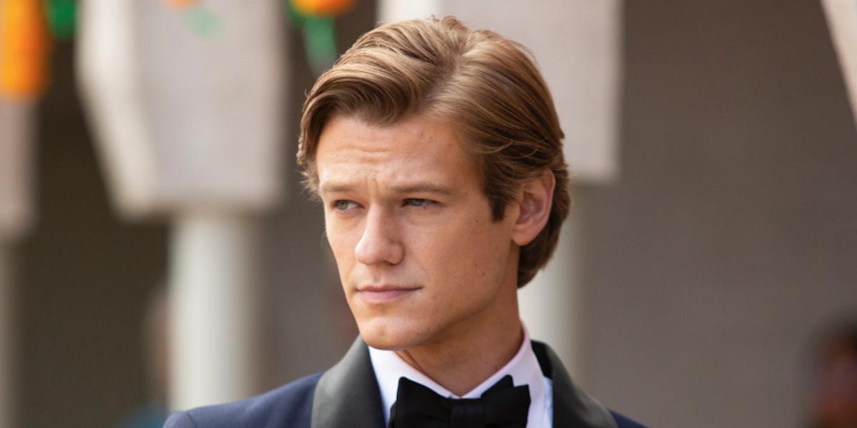 lucas till in a tuxedo on cbs' macgyver season 5