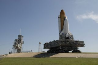 Shuttle Endeavour Moves to Launch Pad for June Mission