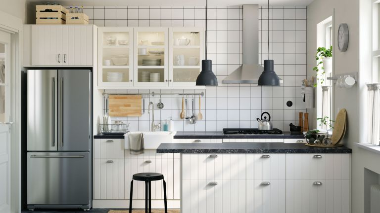 kitchen with white scheme by ikea
