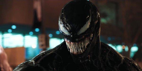 Venom about to eat criminal