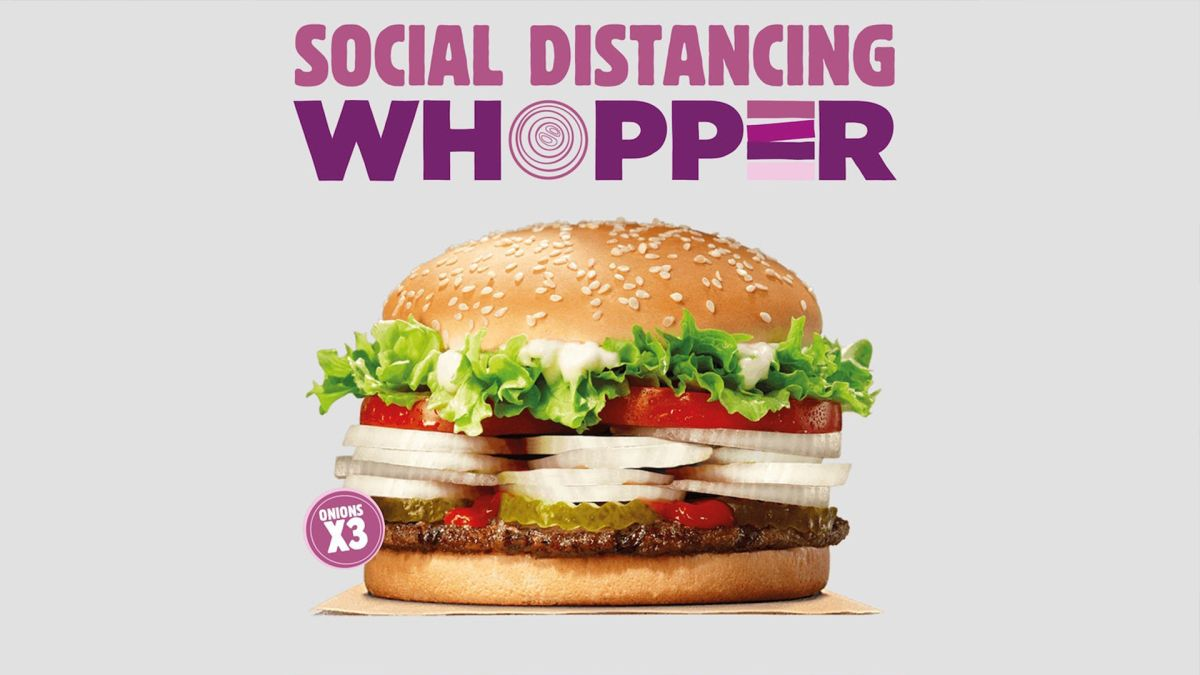 Burger King's genius Social Distancing Whopper will make your eyes water