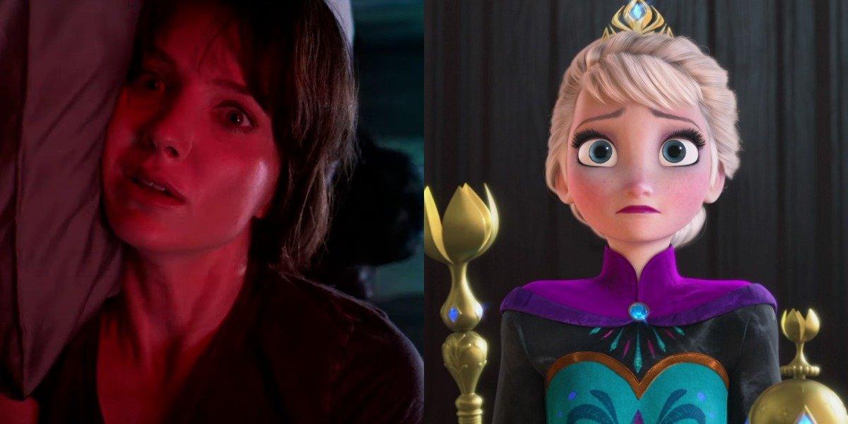 Annabelle Wallis in Malignant and Elsa in Frozen