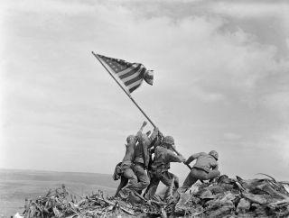 Raising the Flag on Iwo Jima, by Joe Rosenthal.