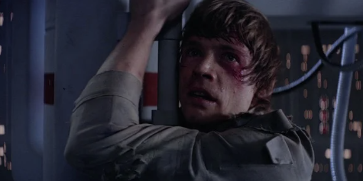 Luke learning Vader is his father