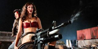 Rose McGowen and her riffle leg in Grindhouse