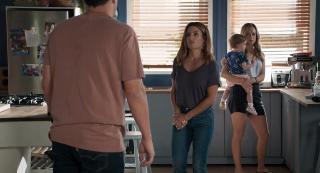 Justin Morgan, Tori Morgan and Leah Patterson in Home and Away.