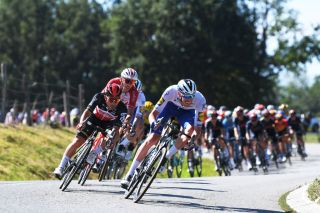 LYON FRANCE SEPTEMBER 12 Caleb Ewan of Australia and Team Lotto Soudal Tim Declercq of Belgium and Team Deceuninck QuickStep during the 107th Tour de France 2020 Stage 14 a 194km stage from ClermontFerrand to Lyon TDF2020 LeTour on September 12 2020 in Lyon France Photo by Tim de WaeleGetty Images