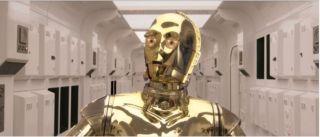Star Wars droid C-3P0.