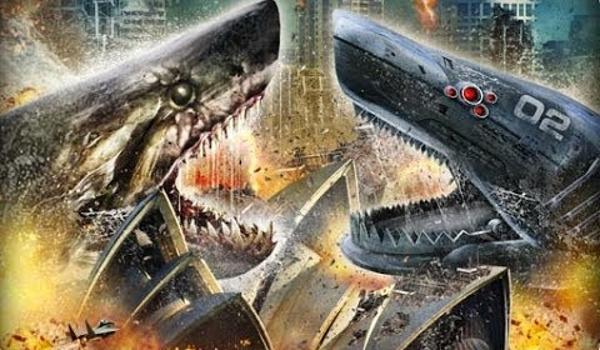 Mega Shark vs Mecha Shark Face Off