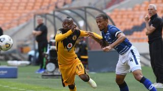 Nazeer Allie of Maritzburg United challenges Khama Billiat of Kaizer Chiefs