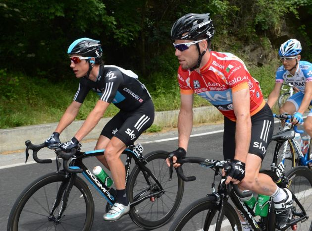Peter Kennaugh and Mark Cavendish, Giro d'Italia 2012, stage 13
