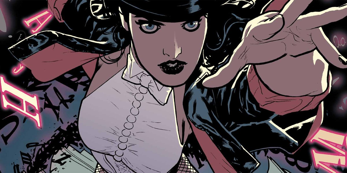 Zatanna close up doing magic DC Comics