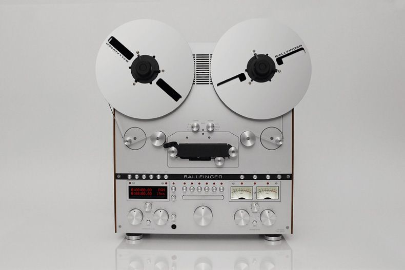 Ballfinger launches plush reel to reel tape machine and