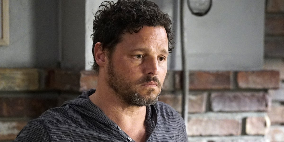 Actor Justin Chambers as Alex Karev looks sad in Grey's Anatomy Season 16 premiere ABC