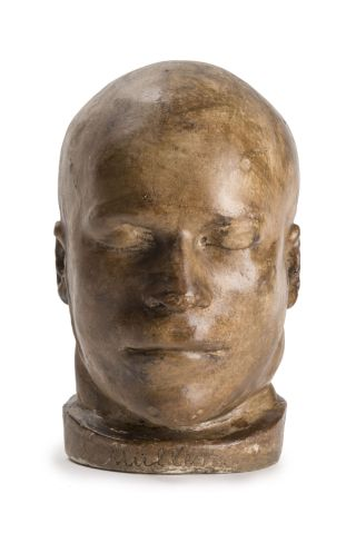 A plaster mask of convicted murderer Franz Muller.