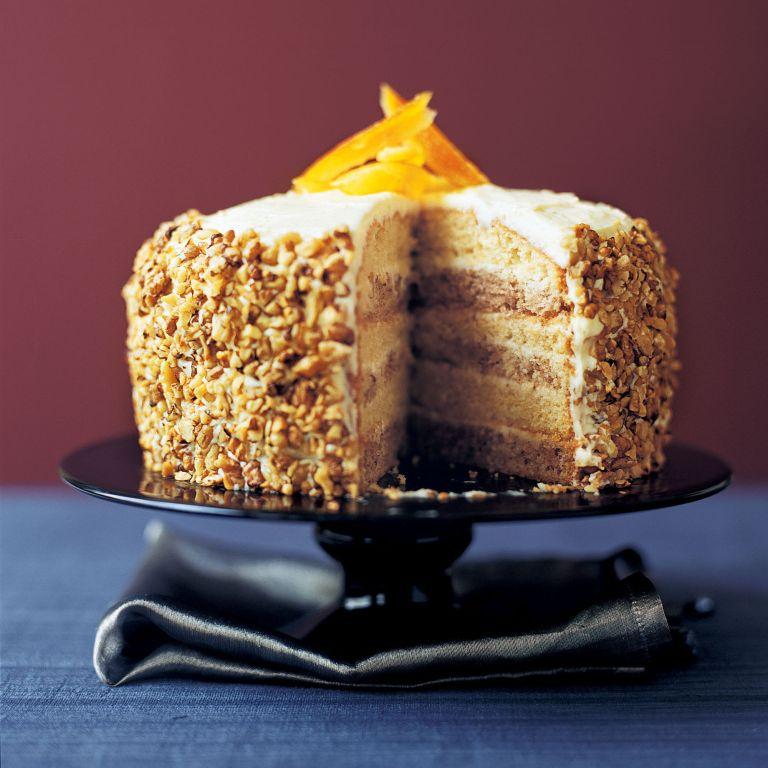 Orange and Walnut Layer Cake recipe-cake recipes-recipe ideas-new recipes-woman and home