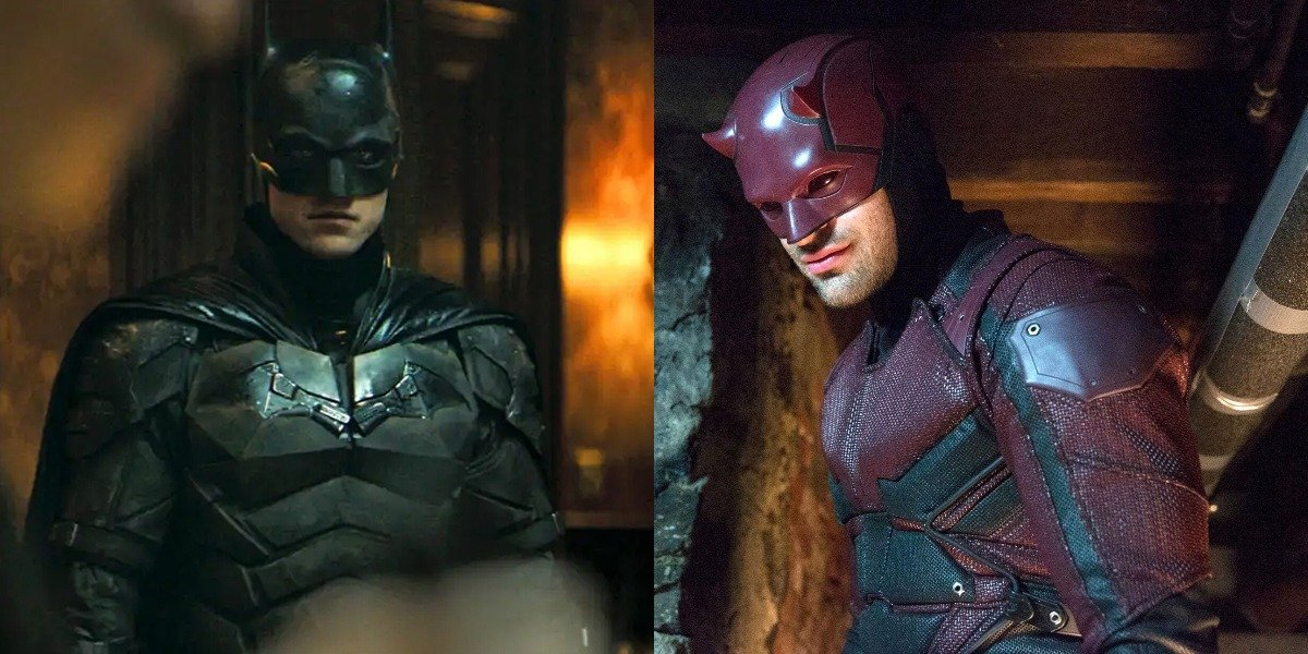 Robert Pattinson as Batman and Charlie Cox as Daredevil in Netflix series