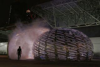 Luma projects interactive sculpture