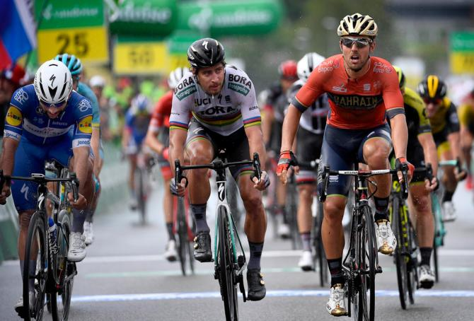 Sonny Colbrelli beats Peter Sagan and Fernando Gaviria to win stage 3 at the Tour de Suisse