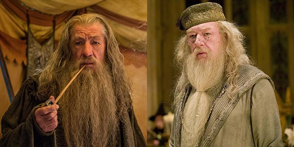 Ian McKellen and Michael Gambon