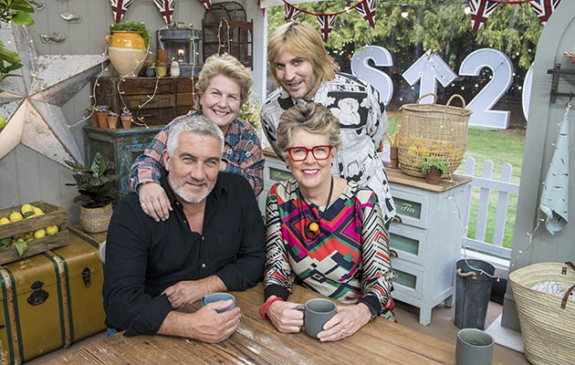 The Great British Bake Off Sandi Noel Paul and Prue