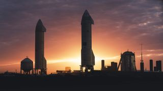 SpaceX is building giant Starship ockets like these or eventual trips to Mars.