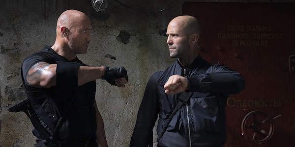 Dwayne Johnson and Jason Statham in Hobbs and Shaw