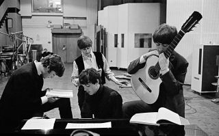 The Beatles in EMI Recording Studios, later renamed Abbey Road Studios. 1964. David Hurn, Magnum Photos