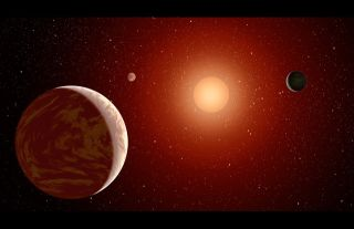 Red Dwarf & 3 Planets