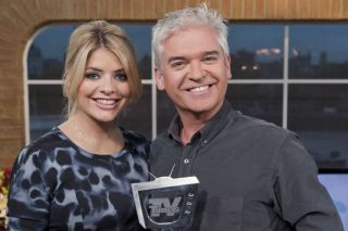 """""""We're hugely proud,"""" beams Phillip Schofield, pictured with co-host Holly Willoughby, after This Morning netted your Favourite Programme title"""