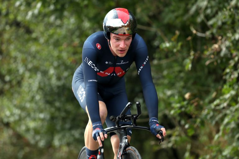 Ethan Hayter at the British National Time Trial championships