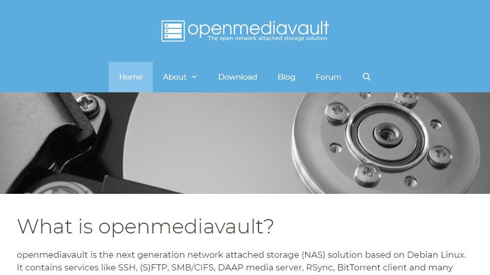 Website screenshot for OpenMediaVault