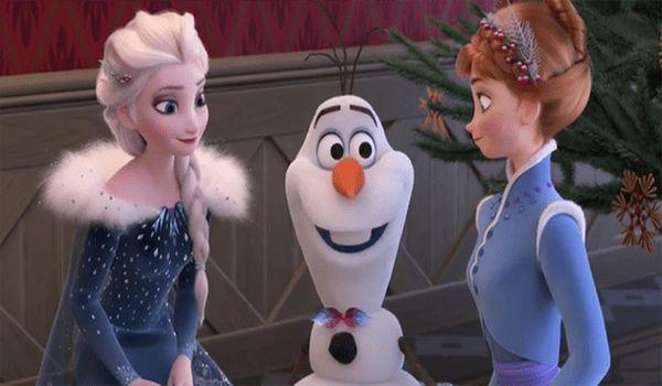 Anna Elsa and Olaf