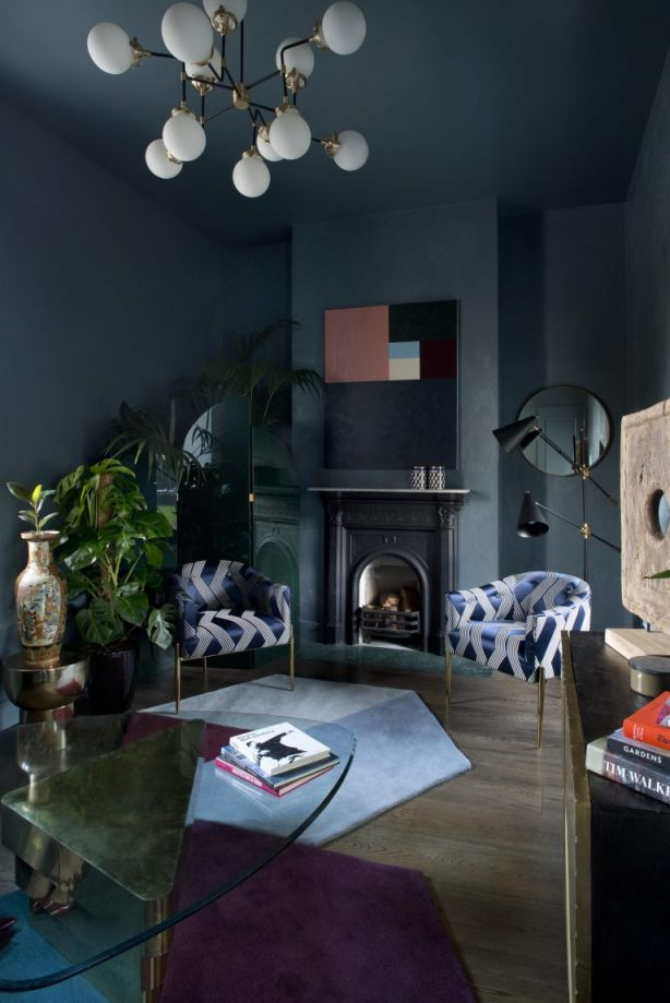 Moody And Dramatic Dark Living Room Ideas and Paint Inspiration