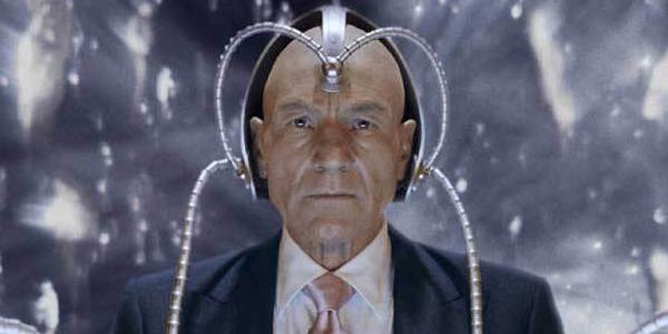 Patrick Stewart with Cerebro