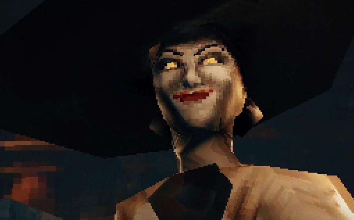 Resident Evil Village PS1 demake has a scarier Lady Dimitrescu