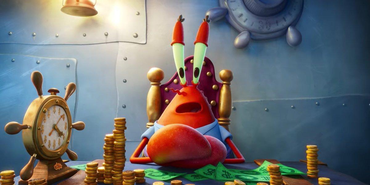 Mr, Krabs in The Spongebob Movie: Sponge on the Run