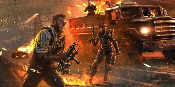 Soldiers charge forward in Black Ops 4.