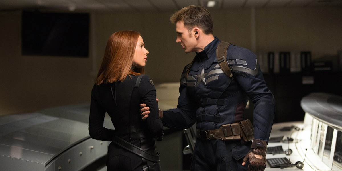 Captain america the winter soldier black widow and captain america