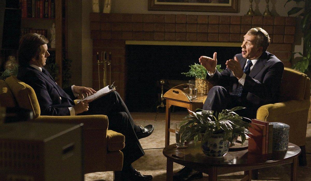Frost/Nixon Michael Sheen and Frank Langella sitting in conversation