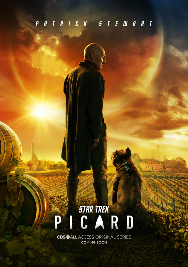 star trek picard poster patrick stewart dog