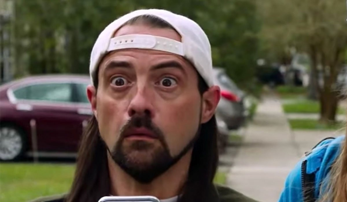 Kevin Smith looking shocked as Silent Bob.