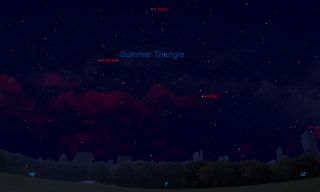 Sky Map Vega, Altair and Deneb