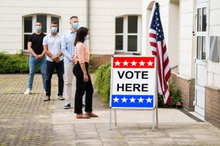 Voting with masks