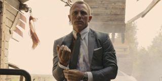 Skyfall Daniel Craig adjusts his cuff in the wreckage