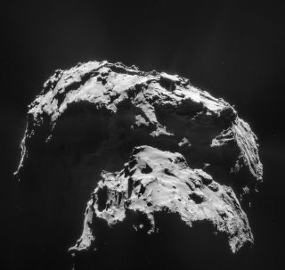 Comet 67P/Churyumov-Gerasimenko Seen by Rosetta Spacecraft