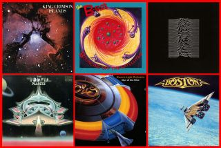Some album covers with space themes