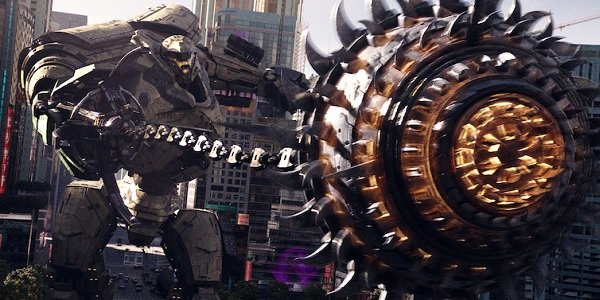 Pacific Rim: Uprising jaeger attack coming towards the camera
